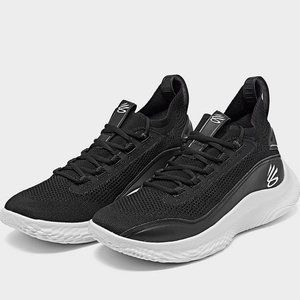 UNDER ARMOUR CURRY 8 Black White BASKETBALL SHOES